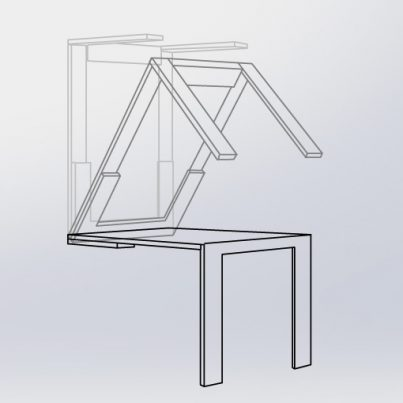 Hardware Set For Diy Wall Folding Table